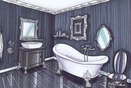 It 39 s the little things how to stage your bathrooms to for Draw your bathroom